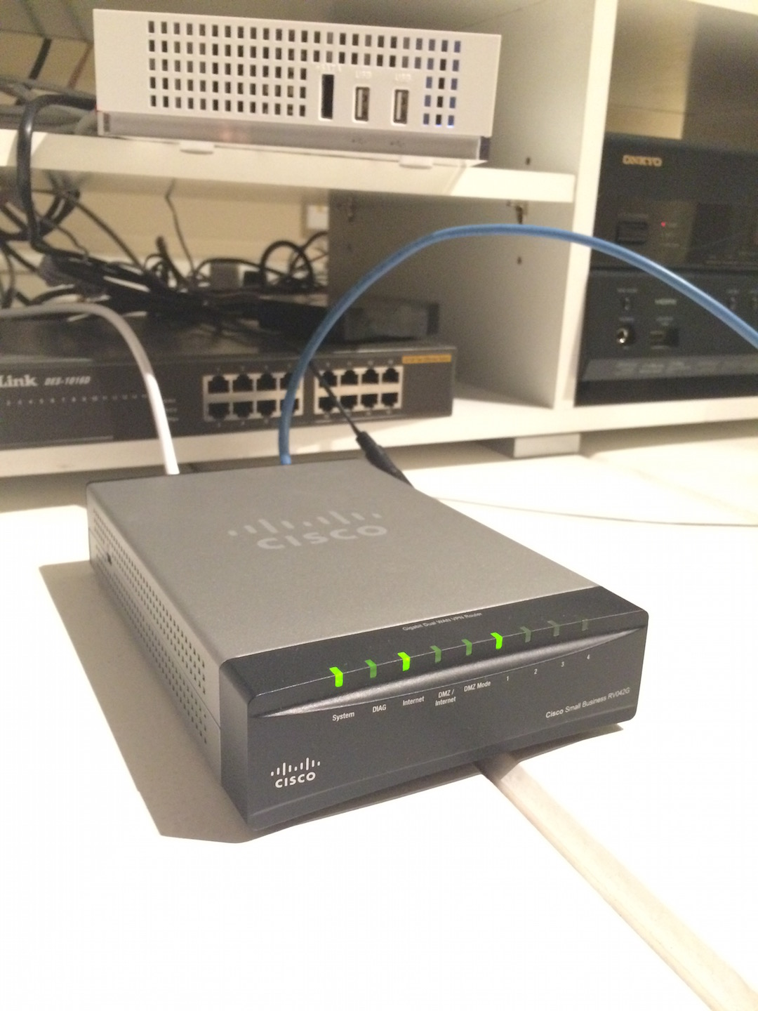 Fix the DIAG blinking led with Cisco RV042G router